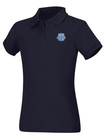 Girls Jersey Polo Ascension Navy