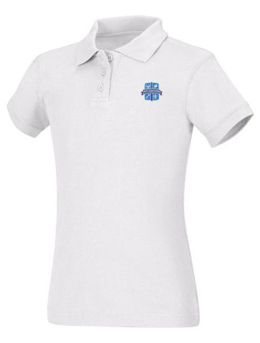 Girls Jersey Polo Ascension White