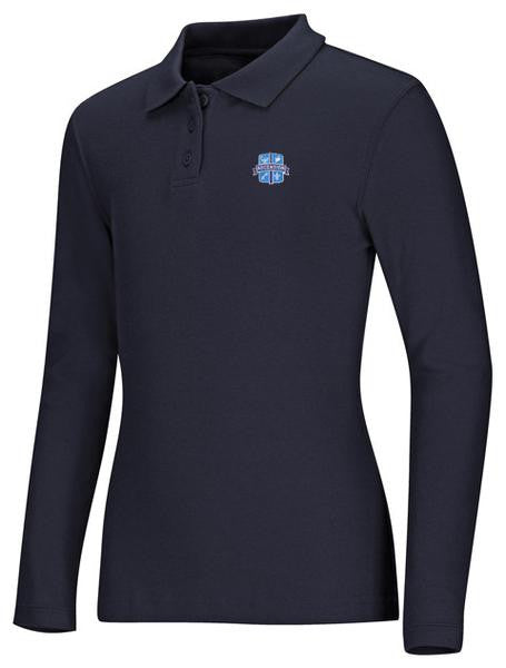 Girls Jersey LS Polo Ascension Navy