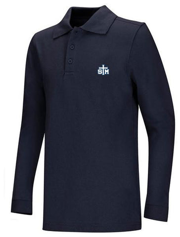 Jersey Polo LS: STM Navy