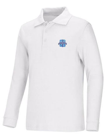 DryFit Polo LS Ascension White