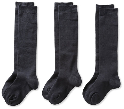 Knee Socks 3 Pk Navy