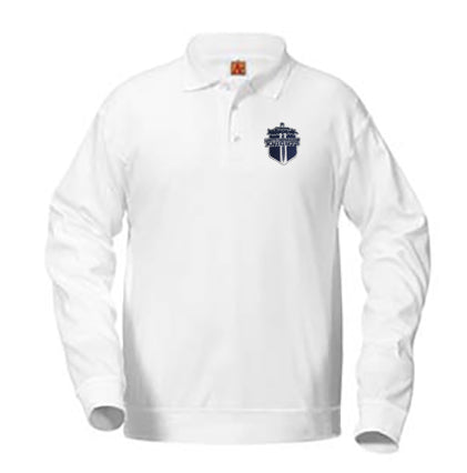 Banded Polo LS LCA White