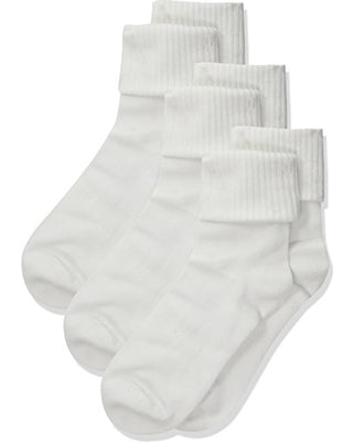Crew Socks 3 Pk White