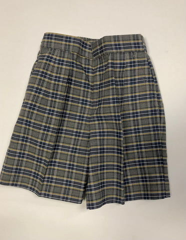 Pleated Shorts Plaid 42