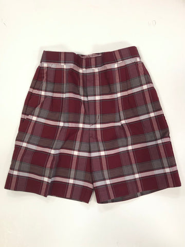 Pleated Shorts Plaid 54