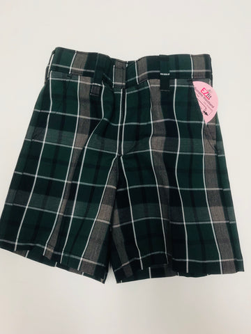 Flat Front Shorts Plaid 75
