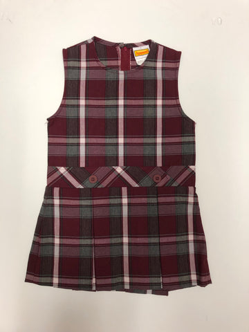 Drop Waist Jumper Plaid 54