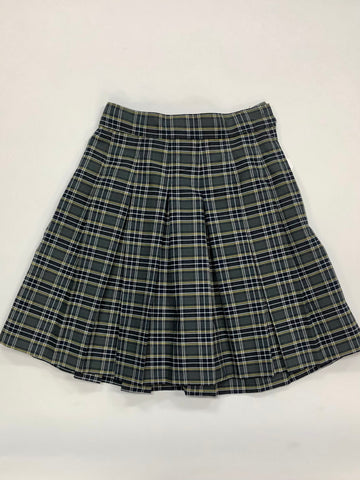 Box Pleat Skirt Plaid 42