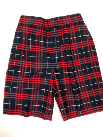 Pleated Shorts Plaid 37