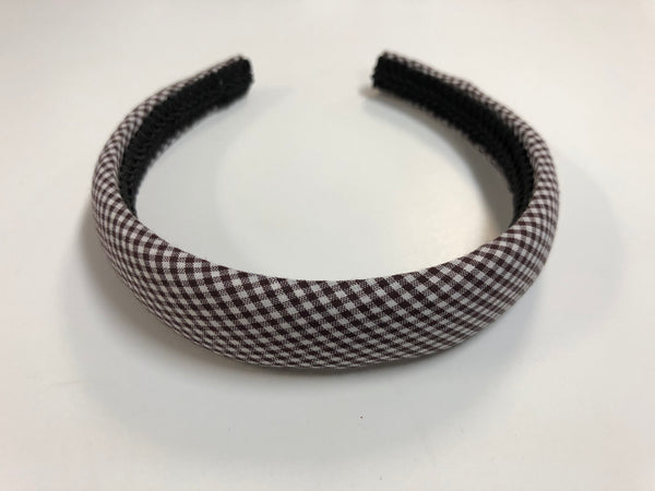 Hair Accessories Brown Gingham