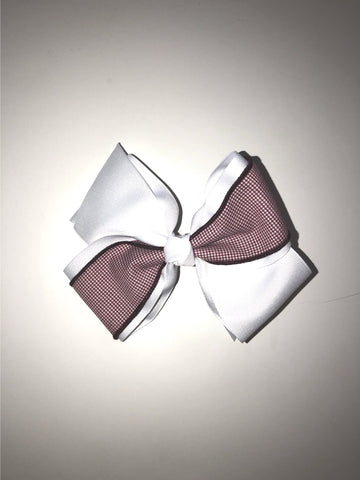 Hair Accessories Burgundy Check