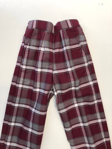 Pull-On Pants Plaid 54