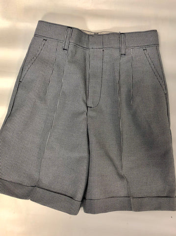 Pleated Shorts Plaid 03N