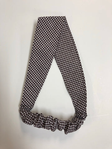 Hair Accessories: Brown Gingham