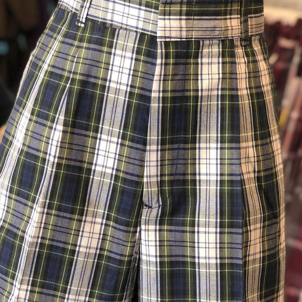 Girls Pleated Shorts Plaid 80