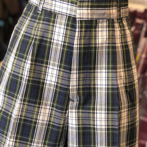 Pleated Shorts Plaid 80