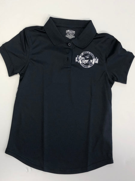 Girls DryFit Polo SCS Navy