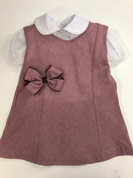 Doll Dress Set Burgundy