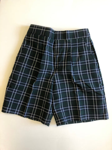 Pleated Shorts Plaid 475