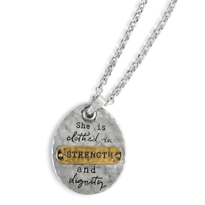 She Inspires Pendant - Strength