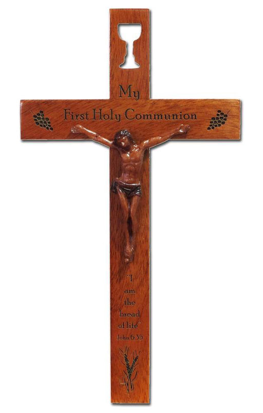 "First Communion 8"" Wooden Crucifix"