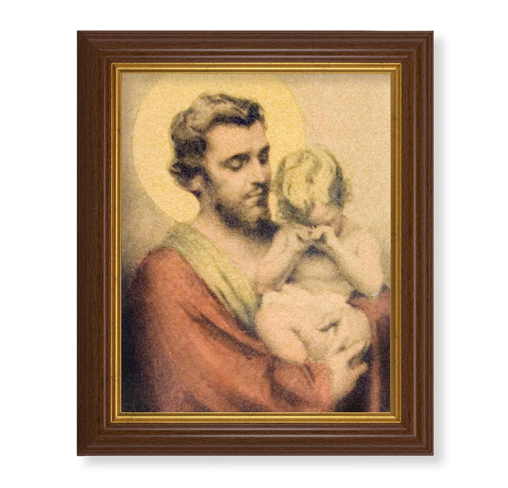 "St. Joseph Comforting Jesus by Chambers 10.5"" x 12"" Framed Art"