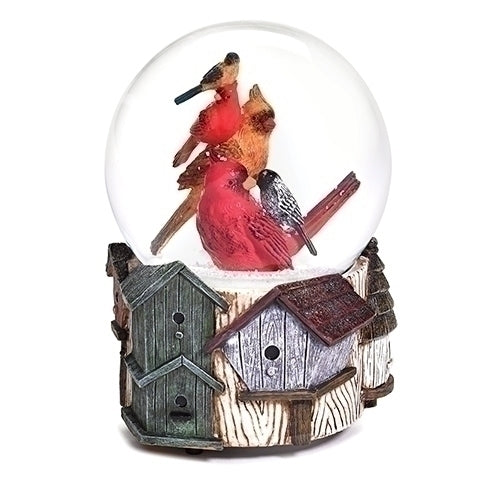 Stack of Birds Snow Globe