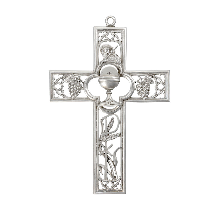 Pewter First Communion Cross 6""