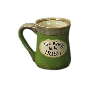Tis a Blessing to Be Irish Pottery Mug