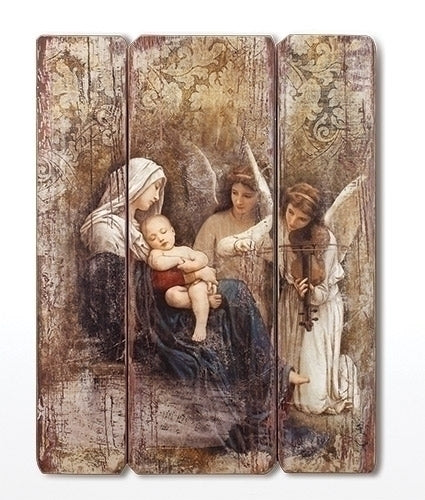 Song of the Angels Wood Plaque 26""