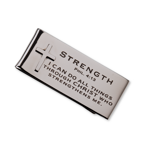 Strength Phil. 4:13 Money Clip