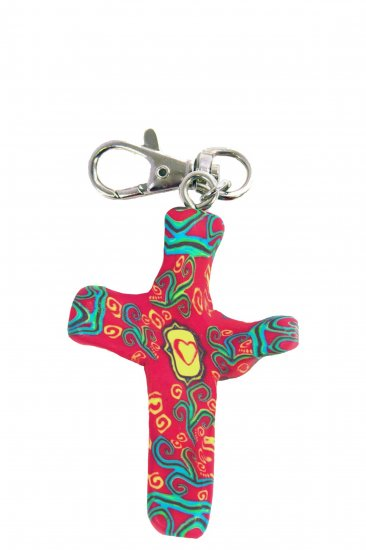 Provence Comforting Clay Cross Keychain