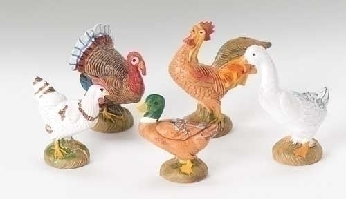 "Bethlehem Birds 5-pc set 5"" Fontanini"