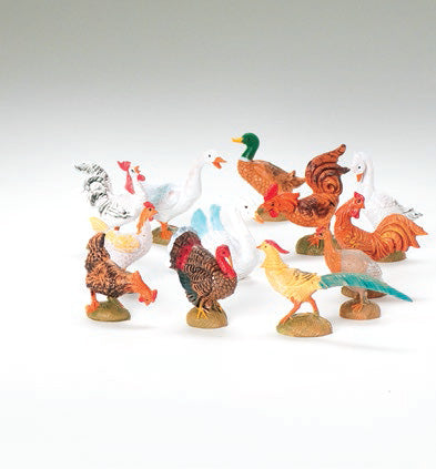 Barnyard Birds 12-pc set Fontanini
