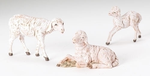 "Sheep Family 3-pc set for 5"" Fontanini"