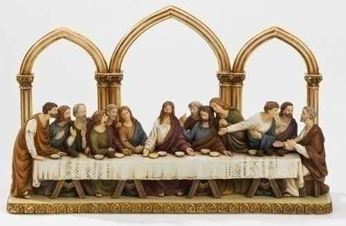 Last Supper Tabletop Statue with Arched backdrop