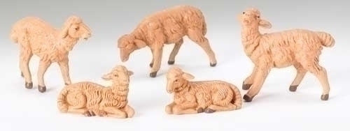 "Brown Sheep 5-pc set 5"" Fontanini"