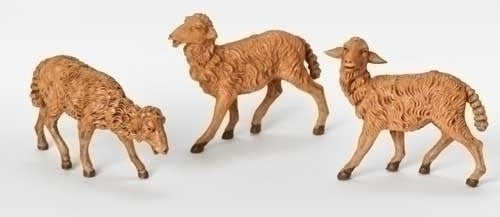 "Brown Sheep 3-pc set for 7.5"" Fontanini"