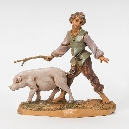"Clement, Boy with Pig 5"" Fontanini - OUT OF STOCK"