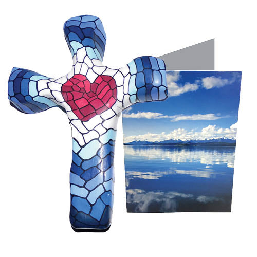 Mosaic Heart Comforting Clay Cross