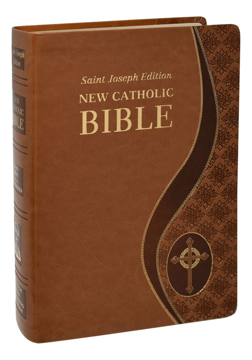 Tan St. Joseph New Catholic Bible - Giant Print