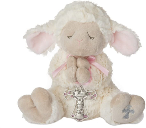 Serenity Lamb with Crib Cross (Girl)