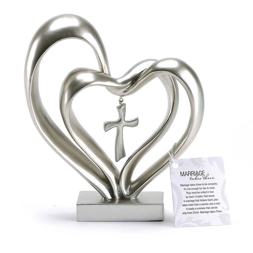 Marriage Takes Three Heart - Silver Finish