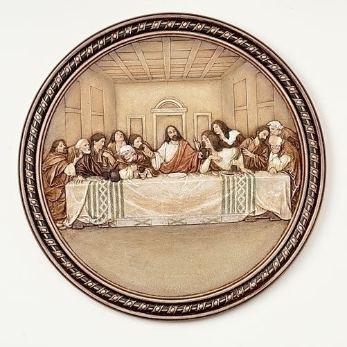 Last Supper Wall Plaque 10.5""
