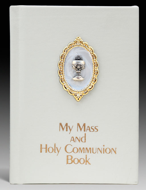 My Mass and Holy Communion Book (White Leatherette Cover)