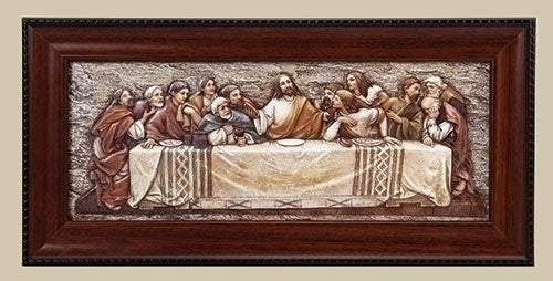 Last Supper Relief in Frame 7x14.5""
