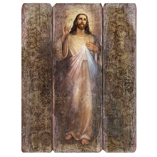Divine Mercy Wood Plaque MDF 26""