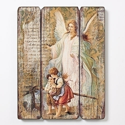 Guardian Angel Wood Plaque MDF 15""