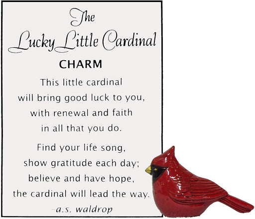 Lucky Little Cardinal Pocket Charm and Card